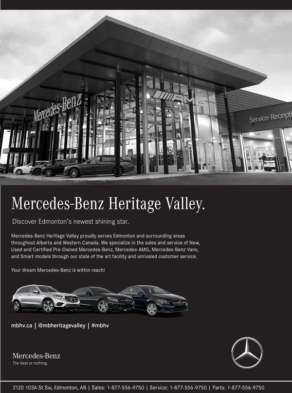 Mercedes-Benz Heritage Valley Company Ad by Mercedes-Benz Heritage Valley in Edmonton AB