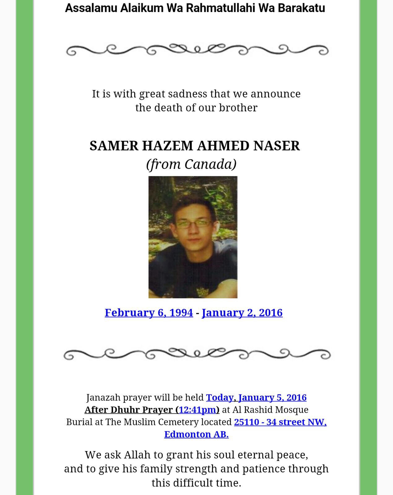 Samer Hazem Ahmed Naser by Marwa   in Edmonton