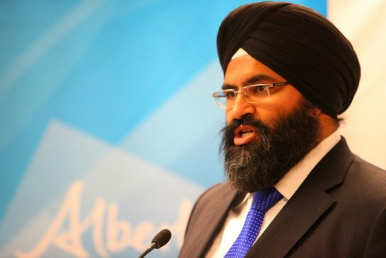 Alberta MLA Manmeet Bhullar dies in a car accident by Ahmed Fattouh in Edmonton AB