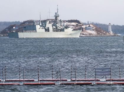 Canadian ship to help ease migrant crisis by Ahmed Fattouh in Edmonton AB