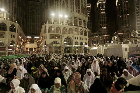 Muslims Crowd Mecca ahead of Hajj by Ahmed Fattouh in Edmonton AB